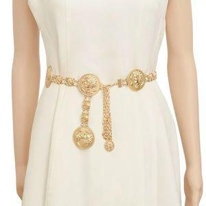 Gold chain waist belt